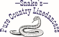 Logo Snakes Pure Country Linedancers